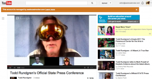 Todd Rundgren: Trying technology and more.