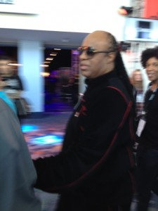 Stevie Wonder stopped by NAMM - Photo by Donna Balancia