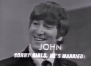 TV Monitor introduces John Lennon to America