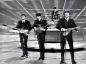 The Beatles on Ed Sullivan - photo courtesy of CBS
