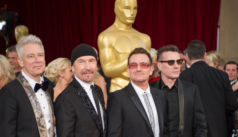 U2 arrives at Academy Awards Show - Photo Courtesy