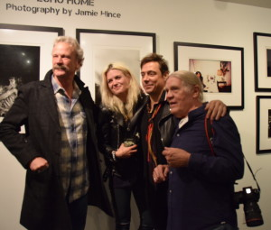 Peter Blachley with Alison Mosshart, Jamie Hince and Henry Diltz