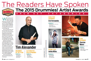 DRUM! announces winners of Drummies! Contest by East Coast Rocker