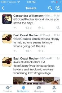 Just doing our part to help Las Vegas concert-goers - East Coast Rocker