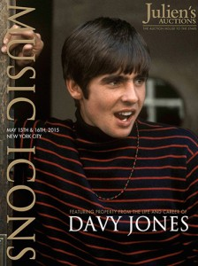 Davy Jones, George Harrison and Elvis' items go up for bid May 15-16.