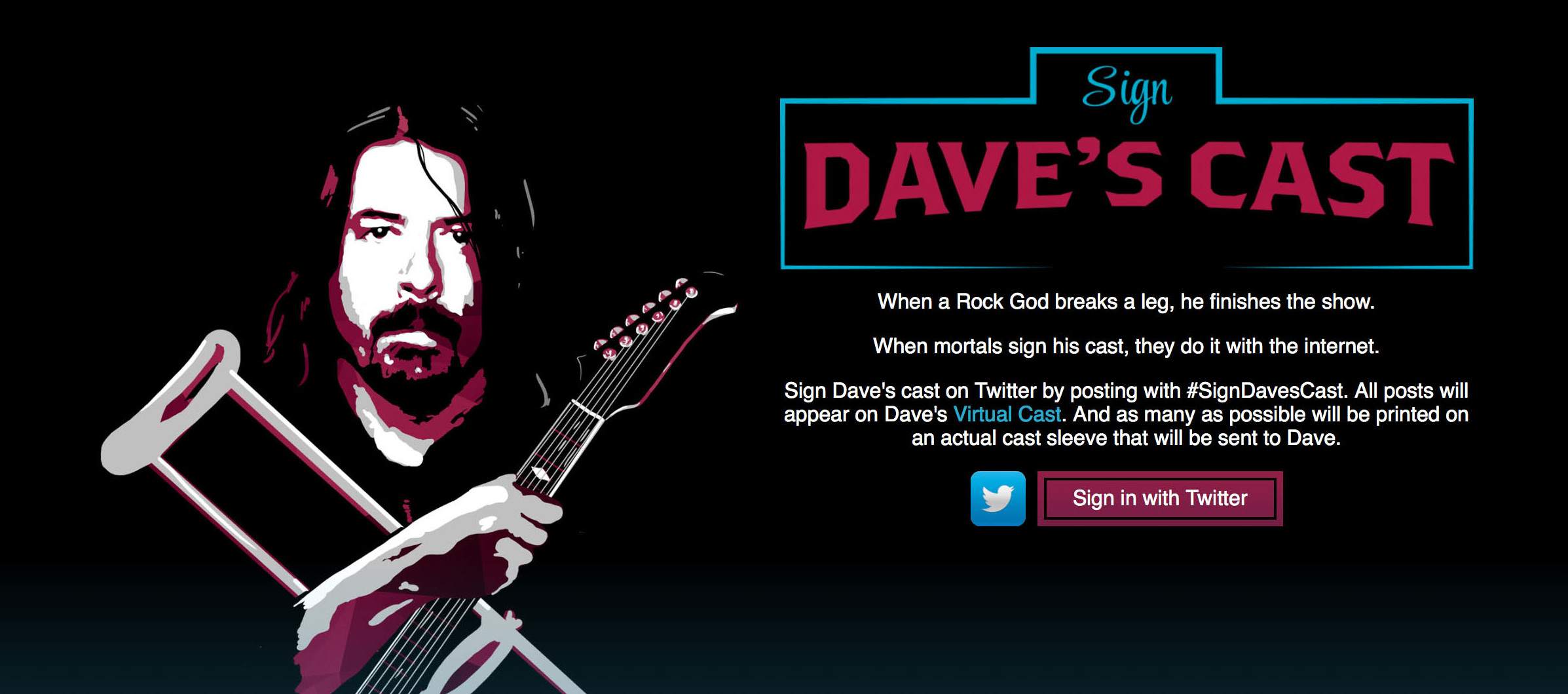 Sign Dave Grohl's Cast - East Coast Rocker