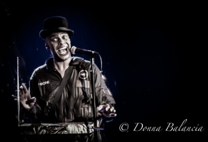 The theremin always has a NAMM presence - Angelo Moore of Fishbone is a fan - Photo © Donna Balancia