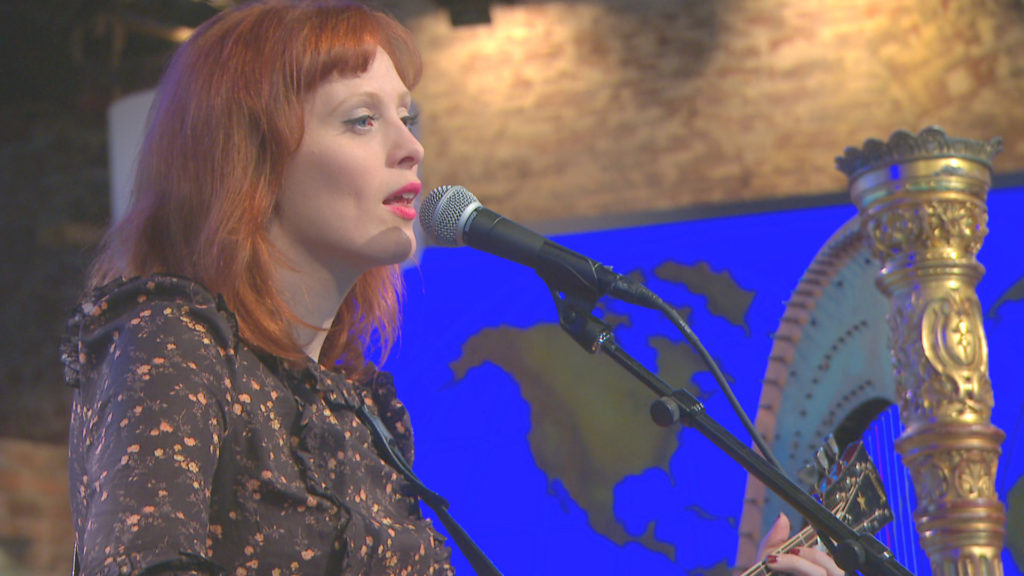 Karen Elson on CBS This Morning: Saturday - Photo courtesy of CBS for CaliforniaRocker.com