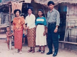 A young Chhom Nimol and her family in the Thai refugee camp - Photo courtesy of Chhom Nimol