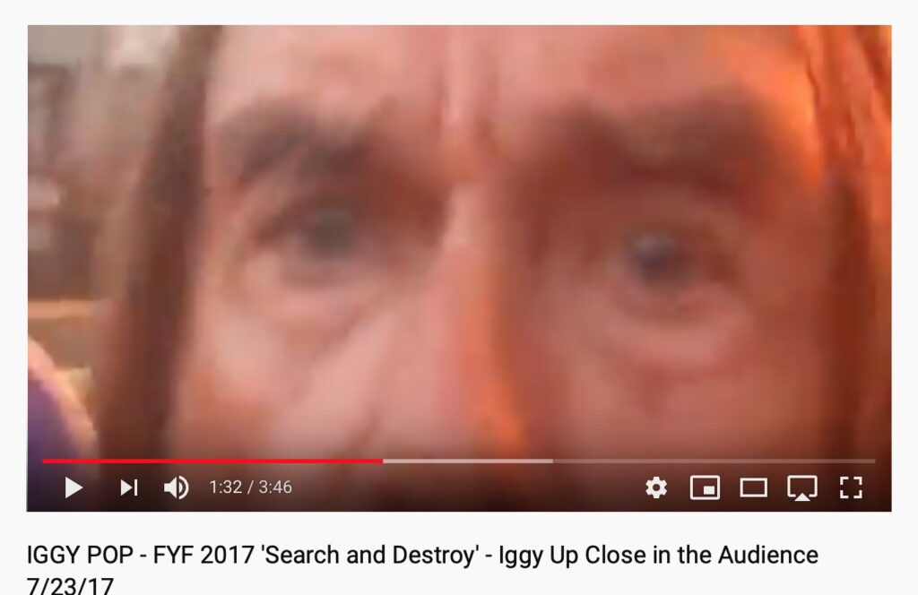 Iggy Pop Up Close