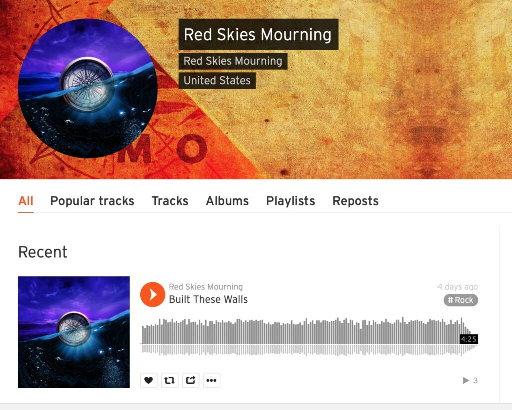 Red Skies Mourning on Soundcloud